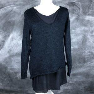 POETRY | Navy Blue Baby Alpaca Sweater Silk